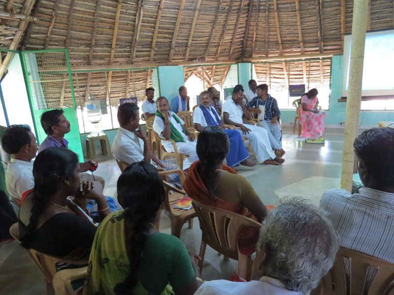 Organic farmers attending the workshop